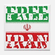 Free Iran Tile Coaster