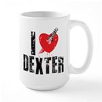 I Heart Dexter Large Mug