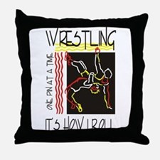That's How I Roll Wrestling Throw Pillow