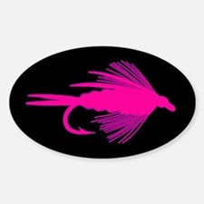 PINK FLY - Oval Decal