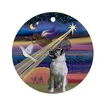 Christmas Star Norwegian Elkhound Ornament (Round)