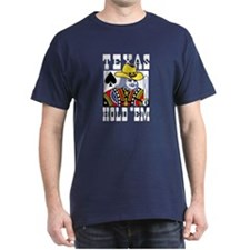 Texas Hold em Poker Black T-Shirt