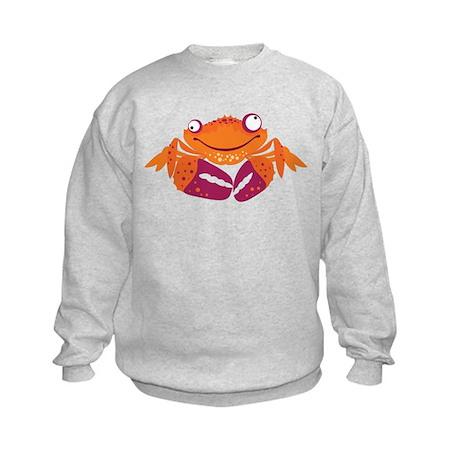 Funny Crab Kids Sweatshirt