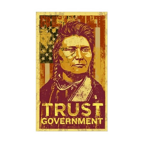 Chief Joseph Trust Government Sticker (Re