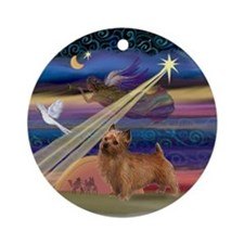 Christmas Star & Norfolk Terrier Ornament (Round)