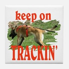 belgian malinois tracking Tile Coaster