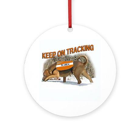 bloodhound tracking Ornament (Round)
