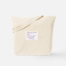 Mans World Tote Bag