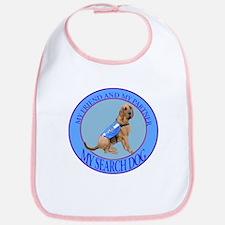 bloodhound search dog Bib