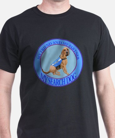 bloodhound search dog T-Shirt