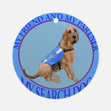 bloodhound search dog Ornament (Round)