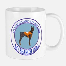 Doberman pinscher search dog Partner Mug