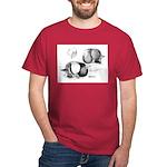 Marchenero Pouter Pigeons Black T-Shirt