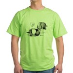 Marchenero Pouter Pigeons Green T-Shirt