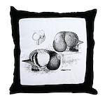 Marchenero Pouter Pigeons Throw Pillow