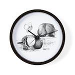 Marchenero Pouter Pigeons Wall Clock