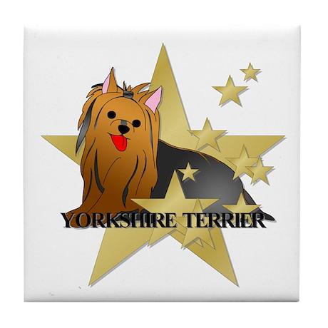 Yorkshire Terrier Stars Tile Coaster