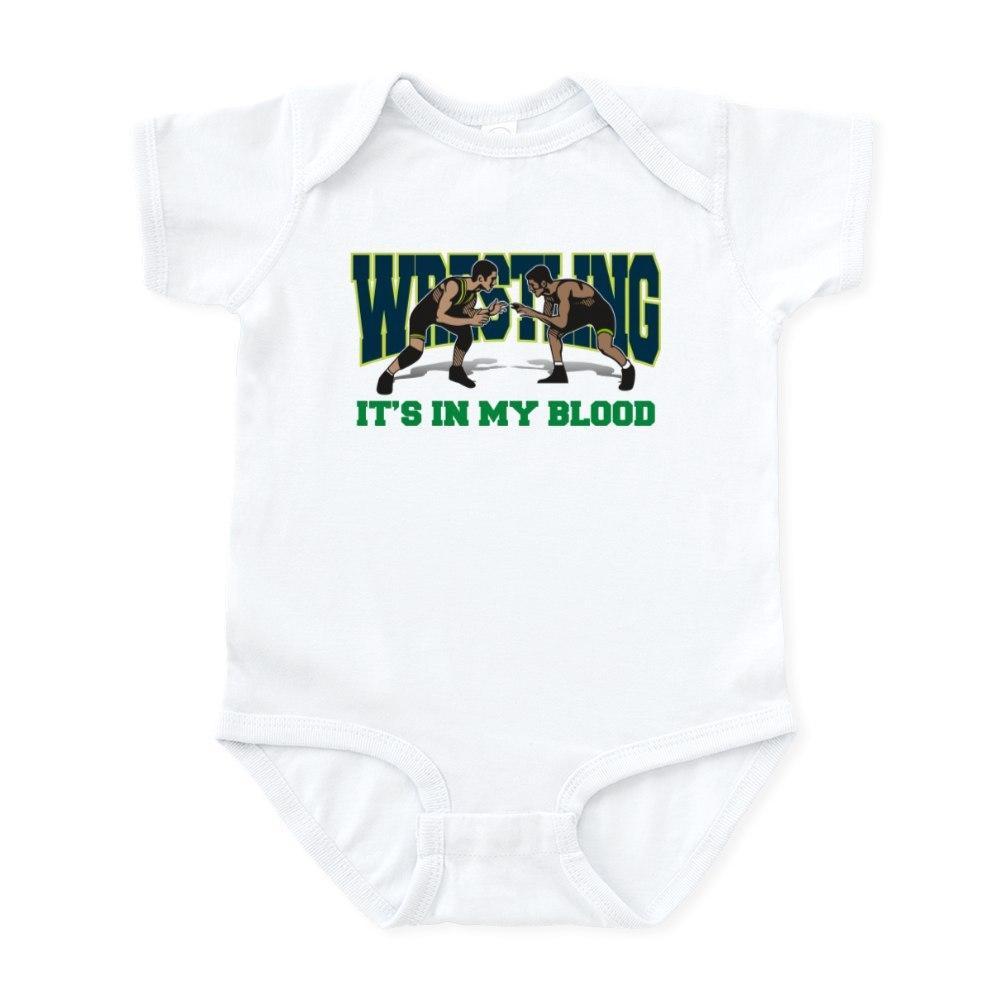 393791426 CafePress Wrestling It/'s In My Blood Infant Bodysuit Baby Bodysuit
