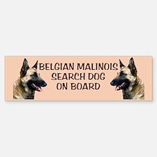 Malinois Search dog Bumper Car Car Sticker