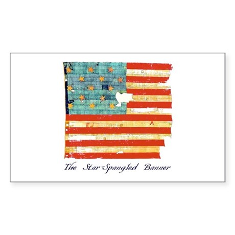 """Star-Spangled Banner"" Sticker (Rectangl"