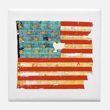 Star-Spangled Banner Tile Coaster