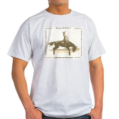 heels down cowgirl Ash Grey T-Shirt