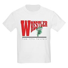 Free Titty Twisters Wrestler T-Shirt