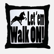 Funny Walking horse Throw Pillow