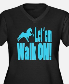 Cool Tennessee walking horse Women's Plus Size V-Neck Dark T-Shirt