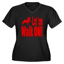 Walk_on_red Plus Size T-Shirt