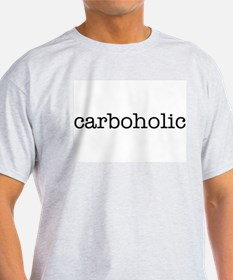 """Carboholic"" Ash Grey T-Shirt"