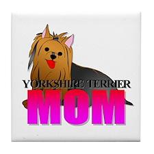 Yorkshire Terrier Mom Tile Coaster