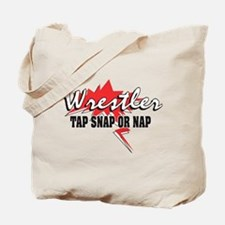 Tap Snap or Nap Wrestler Tote Bag