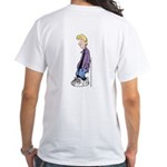 Slouchy Jeremy White T-Shirt