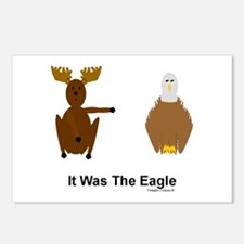 Moose Blames Eagle Postcards (Package of 8)