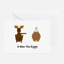 Moose Blames Eagle Greeting Card