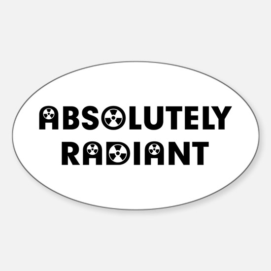 Absolutely Radiant Sticker (Oval)