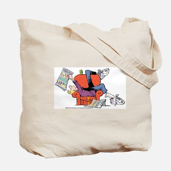 Jeremy Reading Comics Tote Bag