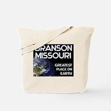 branson missouri - greatest place on earth Tote Ba