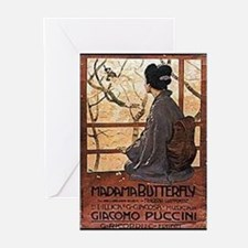 Madama Butterfly Greeting Cards (Pk of 20)
