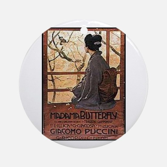 Madama Butterfly Ornament (Round)