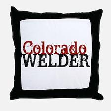 Colorado Welder Throw Pillow