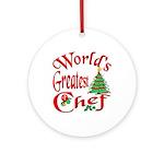 Greatest Chef Ornament (Round)