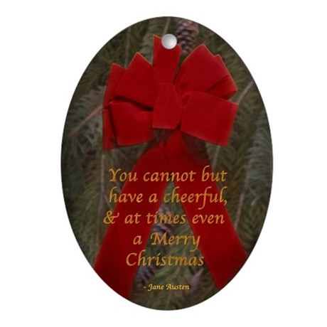 Austen Merry Christmas Oval Ornament