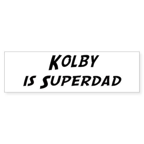 Kolby is Superdad Bumper Sticker
