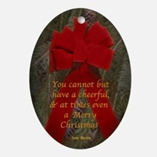 Austen Merry Christmas Oval Ornament