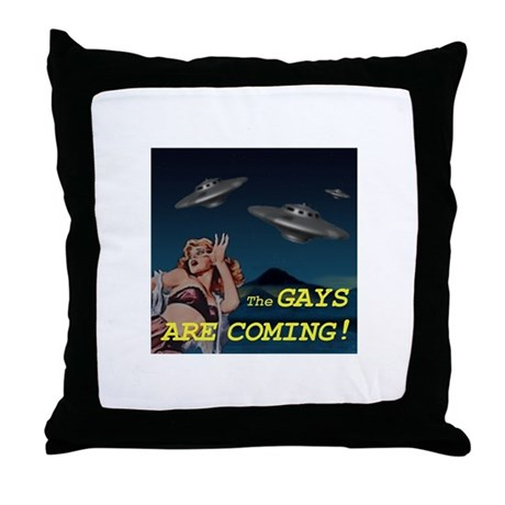 The Gays Are Coming Throw Pillow