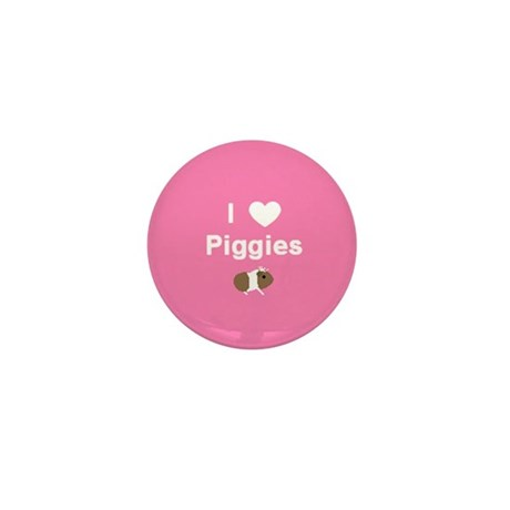I love Piggies Mini button