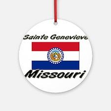 Sainte Genevieve Missouri Ornament (Round)