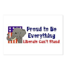 Proud to be everything liberals can't stand Postca